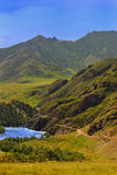 Panorama do distrito da montanha Fotografia de Stock