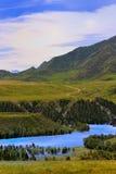 Panorama do distrito da montanha Foto de Stock Royalty Free
