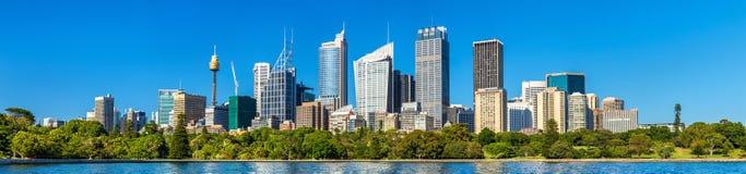 Panorama do distrito financeiro central de Sydney - Austrália imagem de stock