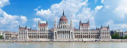 Panorama do edifício do parlamento de Hungria foto de stock royalty free