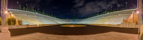 Panorama do estádio de Panathinaiko (Kallimarmaro), Atenas, Greece Fotos de Stock