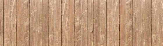 Panorama do fundo de madeira marrom do assoalho do texure fotografia de stock