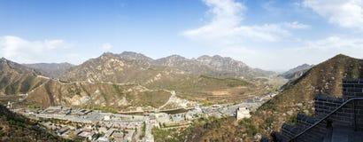 Panorama do Grande Muralha de China Imagem de Stock Royalty Free