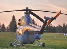 Panorama do helicóptero MI-2 Fotografia de Stock