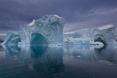 Panorama do iceberg foto de stock royalty free