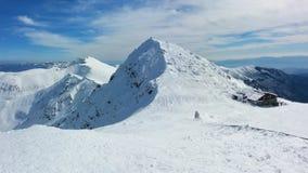 Panorama do inverno da montanha de Chopok fotografia de stock