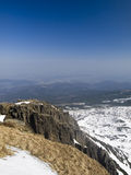 Panorama do inverno de montanhas de Krkonose Imagens de Stock