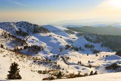 Panorama do inverno de Monte Grappa, Itália Imagens de Stock Royalty Free