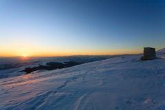 Panorama do inverno de Monte Grappa, Itália Foto de Stock