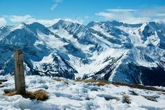 Panorama do inverno de Moutain Imagens de Stock Royalty Free
