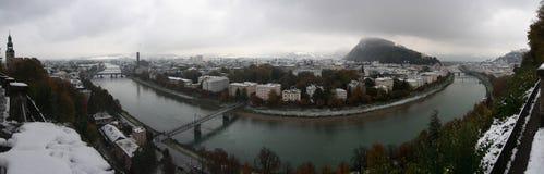 Panorama do inverno de Salzburg Foto de Stock Royalty Free