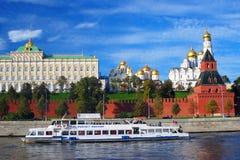 Panorama do Kremlin de Moscou Imagem de Stock