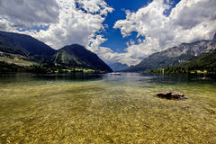 Panorama do lago austria Grundlsee Fotos de Stock