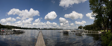 Panorama do lago Okoboji Foto de Stock