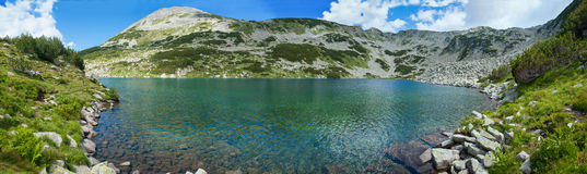 Panorama do lago Pirin Foto de Stock Royalty Free