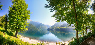 Panorama do lago Ritza Imagem de Stock Royalty Free