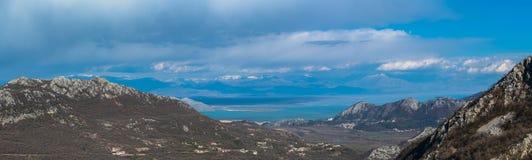 Panorama do lago Skadar fotos de stock