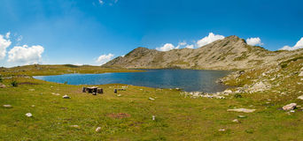 Panorama do lago Tevno Foto de Stock Royalty Free
