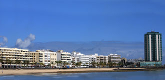Panorama do Lanzarote de capital, Arrecife, Fotografia de Stock Royalty Free