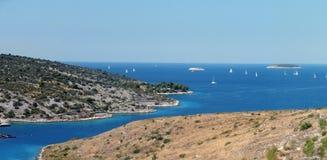 Panorama do litoral imagens de stock royalty free