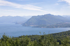 Panorama do maggiore de Lago Imagens de Stock Royalty Free