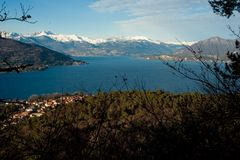 Panorama do maggiore do lago Imagens de Stock Royalty Free