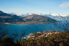 Panorama do maggiore do lago Foto de Stock