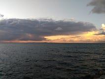 Panorama do mar imagens de stock