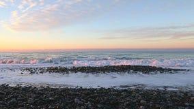Panorama do mar da opinião dianteira do nascer do sol vídeos de arquivo