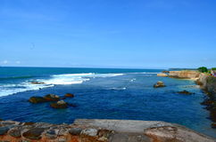 Panorama do mar em Galle Fotografia de Stock