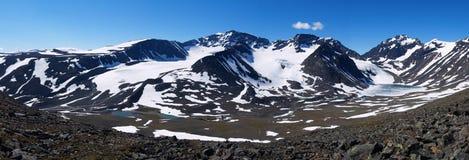Panorama do massif de Kebnekaise Fotografia de Stock