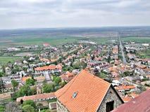 Panorama do megohm do ¼ de SÃ no telhado do castelo imagens de stock
