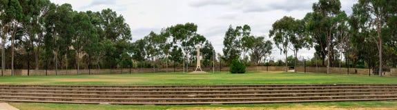 Panorama do memorial de guerra de ANZAC no Central Park de Joondalup imagem de stock royalty free
