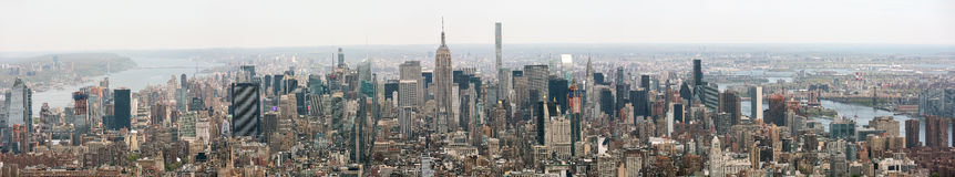 Panorama do Midtown de New York City Manhattan fotografia de stock