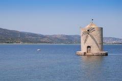 Panorama do moinho de vento Imagens de Stock Royalty Free