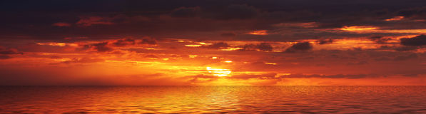 Panorama do nascer do sol Ilustração Royalty Free
