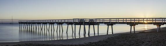 Panorama do nascer do sol do molhe de Torquay, Hervey Bay, QLD Fotografia de Stock Royalty Free