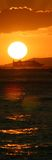 Panorama do navio de cruzeiros fotografia de stock royalty free