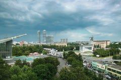 Panorama do nordeste de Moscou foto de stock royalty free