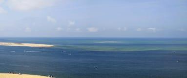 Panorama do oceano Fotos de Stock Royalty Free