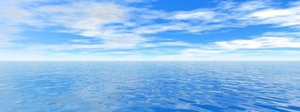 Panorama do oceano Imagem de Stock Royalty Free