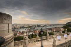 Panorama do outono de Budapest imagens de stock