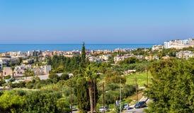 Panorama do outono de Paphos imagem de stock