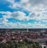 Panorama do outono de Vilnius fotos de stock