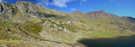 Panorama do outono Pyrenees-Atlantiques Imagens de Stock