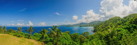 panorama do Pássaro-olho do litoral de Phuket Imagens de Stock