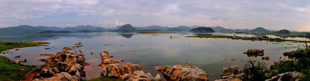 Panorama do pantanal Imagens de Stock