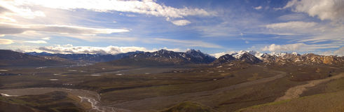 Panorama do parque de Denali Imagem de Stock Royalty Free