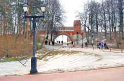 Panorama do parque de Tsaritsyno em Moscou Fotografia de Stock