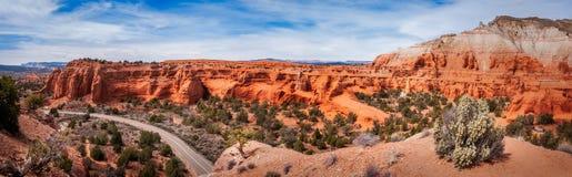 Panorama do parque estadual da bacia de Kodachrome Fotografia de Stock